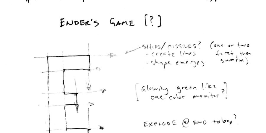 Ender's Game animated title concept sketch