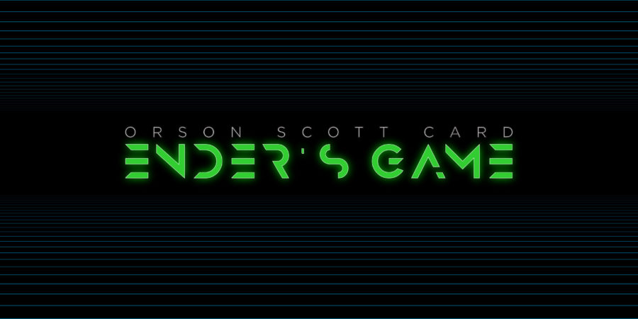 Ender's Game animated book title final layout