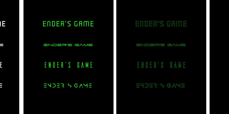 Ender's Game animated title typeface testing