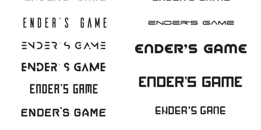 Ender's Game animated title typeface exploration